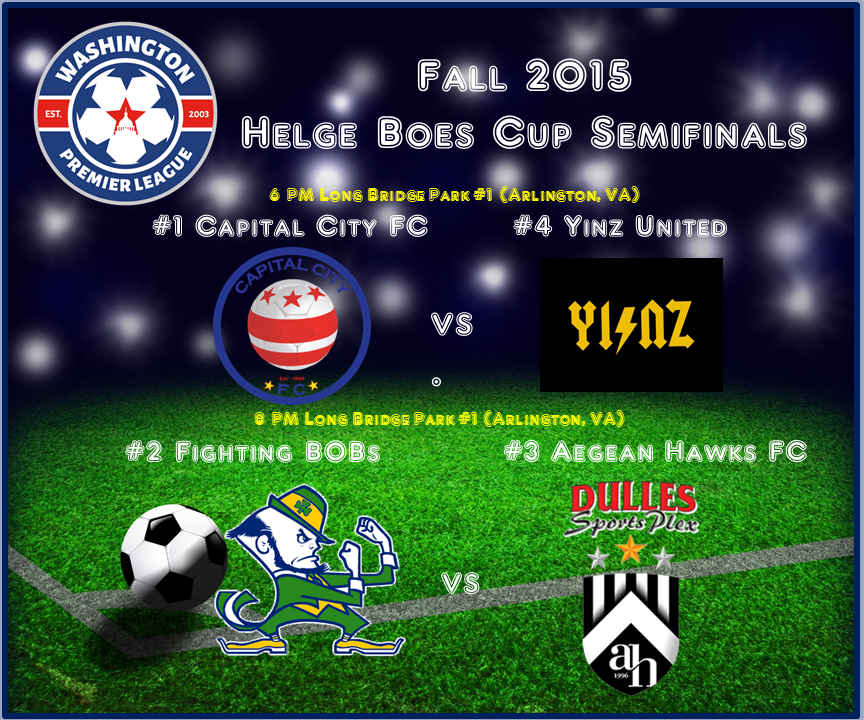 #1 Capital City and #3 Dulles Sportsplex Aegean Hawks FC Emerge Victorious in Fall 2015 Helge Boes Cup Semis